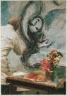 Marc Chagall (1887-1985)  -  Marc Chagall (1887-1985) werkt aan 'Die Zauberflot - Postcard -  A4943-1