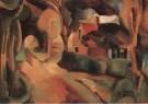 Matthieu Wiegman (1886-1971)  -  Landweg te Bergen - Postcard -  A5029-1
