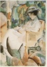 Piet Wiegman (1885-1963)  -  Lezende dame, ca. 1920 - Postcard -  A5106-1