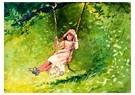 Winslow Homer (1836-1910)  -  Girl on a Swing, 1879 - Postcard -  A54328-1