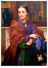 William Holman Hunt (1827-1910 -  Portrait of Fanny Holman Hunt, 1866-1868 - Postcard -  A54732-1