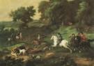 Nicolaes Maes (1634-1693)  -  Koning Stadhouder Willem III op Zwijnejacht - Postcard -  A5656-1