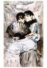 Anders Zorn (1860-1920)  -  The Cousins, 1882 - Postcard -  A57478-1