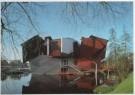 Jannes Linders (1955)  -  Groninger Museum exterieur, paviljoen wisselende t - Postcard -  A5871-1