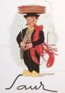 Jan Lavies (1902-2005)  -  J.Lavies/Rest.Saur,menu omslag - Postcard -  A6138-1