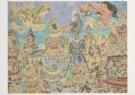 Jaap Oudes (1895-1969)  -  J.Oudes/Carnaval met reuzen - Postcard -  A6226-1