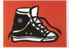 Thom Slaughter (1955-2014)  -  T.Slaughter/Sneaker print - Postcard -  A6427-1