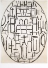 Piet Mondrian (1872-1944)  -  Kerk te Domburg - Postcard -  A6602-1