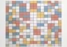 Piet Mondrian (1872-1944)  -  Compostie schaakbord licht - Postcard -  A6621-1