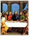 Holbein the younger 1497-1543  -  The Last Supper, 1524-1525 - Postcard -  A67265-1