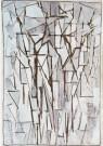 Piet Mondrian (1872-1944)  -  Mondriaan/ Comp. bomen II/HGM - Postcard -  A6779-1