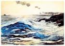 Winslow Homer (1836-1910)  -  Sunset, Prout's Neck, 1895 - Postcard -  A67876-1