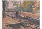 Johan Dijkstra (1896-1978)  -  Spilsluizen met de Boteringebrug - Postcard -  A7269-1