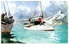 Winslow Homer (1836-1910)  -  Fishing Boats, Key West, 1903 - Postcard -  A73059-1