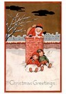 A.N.B.  -  Kinderen slapen tegen de schoorsteen aan en kerstman gaat de - Postcard -  A75369-1