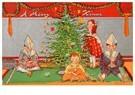 A.N.B.  -  Kinderen spelen bij de kerstboom - Postcard -  A75964-1