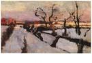 Floris Verster (1861-1927)  -  Sneeuwstudie - Postcard -  A7667-1