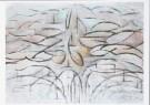 Piet Mondrian (1872-1944)  -  Bloeiende appelboom, 1912 - Postcard -  A7760-1