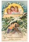 A.N.B.  -  Kerstengelen boven een besneeuwd dorp - Postcard -  A78220-1