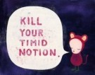 Yoshitomo Nara (1959)  -  Kill your Timid Notion - Postcard -  A7865-1
