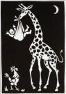 Eddy Varekamp (1949)  -  Giraffe met kind en haan - Postcard -  A8039-1