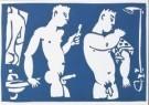 Eddy Varekamp (1949)  -  2 heren ,badkamer - Postcard -  A8041-1