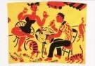 Eddy Varekamp (1949)  -  E. Varekamp/heer/dame/3 poezen - Postcard -  A8047-1