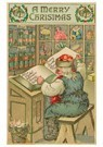 A.N.B.  -  Kerstman leest de kindernamen in zijn boek - Postcard -  A81044-1