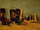 German Grobe (1857-1938)  -  strandstoelen, Katwijk - Postcard -  A8196-1