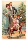 A.N.B.  -  Gezin viert kerst voor de kerstboom - Postcard -  A83978-1