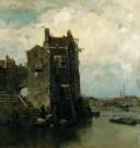 Jacob Maris (1837-1899)  -  Oud Dordrecht - Postcard -  A8417-1