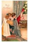 A.N.B.  -  Kinderen kijken hoe de kerstman de cadeaus neerlegt - Postcard -  A84245-1