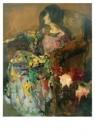 Germ de Jong (1886-1967)  -  Portret van Elly - Postcard -  A8596-1