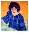 Jan Sluijters (1881-1957)  -  Portret Greet in - Postcard -  A8636-1