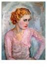 Jan Sluijters (1881-1957)  -  Jonge vrouw met - Postcard -  A8648-1