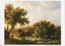 M.A. Koekkoek (1873-1944)  -  B. C. Koekkoek/Landschap eiken - Postcard -  A8656-1