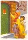 A.N.B.  -  Een kind en een engel met een kaars kloppen aan bij een huis - Postcard -  A86612-1