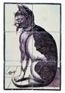 Delft  -  Tegeltableau met kat en muizen - Postcard -  A8664-1