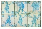 Delft  -  Tegels met vijf piekeniers - Postcard -  A8697-1