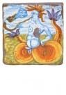 Delft  -  Tegel met triton blazend op sl - Postcard -  A8701-1