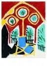Pablo Picasso (1881-1973)  -  La fenOtre de l'ate - Postcard -  A8731-1