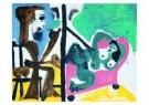 Pablo Picasso (1881-1973)  -  Le peintre et son - Postcard -  A8733-1