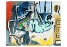 Pablo Picasso (1881-1973)  -  Le peintre et son m - Postcard -  A8739-1
