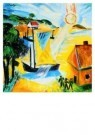 Max Pechstein (1881-1955)  -  Landschap opgaand - Postcard -  A8756-1