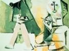Pablo Picasso (1881-1973)  -  Le peintre et son - Postcard -  A8882-1