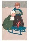 A.N.B.  -  Kinderen met een slee - Postcard -  A89363-1
