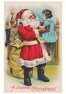 A.N.B.  -  Kerstman houdt meisje in de lucht - Postcard -  A89672-1