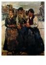 Isaac Israels (1865-1934)  -  Drie meiden in Amste - Postcard -  A8971-1
