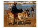 Isaac Israels (1865-1934)  -  Ezeltje rijden aan - Postcard -  A8974-1