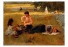 Isaac Israels (1865-1934)  -  Picknick in het Bois - Postcard -  A8980-1
